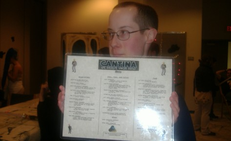 Me with Cantina menu.